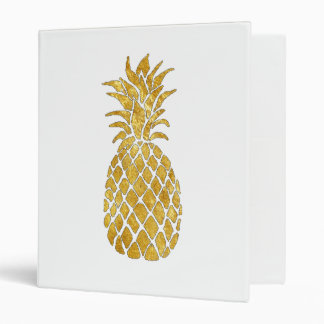 gold foil look pineapple binders