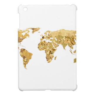 Gold Foil Map iPad Mini Cover