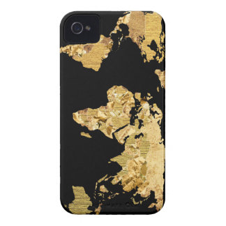 Gold Foil Map iPhone 4 Covers