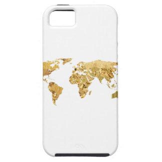 Gold Foil Map iPhone 5 Case