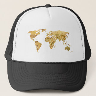 Gold Foil Map Trucker Hat