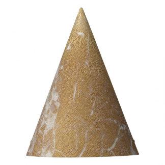 gold foil marble party hat