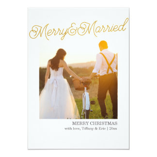 Gold Foil Married & Merry Christmas Cards