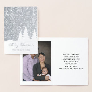 Gold Foil Merry Christmas Photo Greeting Card