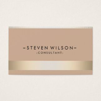 Gold Foil Metal Professional Modern Elegant Business Card