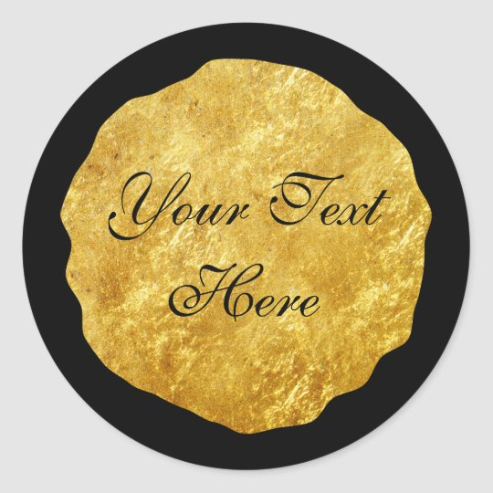 Gold Foil Modern Customizable Round Sticker