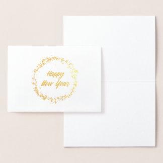 Gold Foil New Year's Sparkler Card
