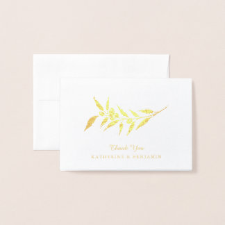 Gold Foil Olive Branch | Wedding Foil Card
