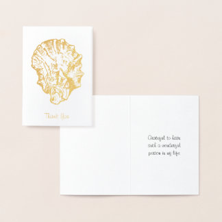 Gold Foil Oyster Shell Card