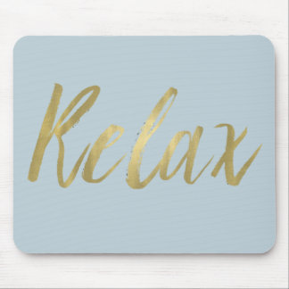 Gold Foil Relax Mouse Pad