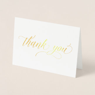 Gold Foil - simple minimalist thank you card