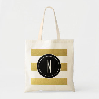 GOLD FOIL STRIPES | BLACK MONOGRAM