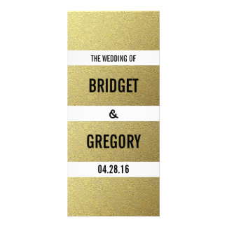 Gold Foil Stripes Wedding Programs