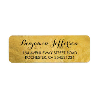 Gold Foil Wedding Return Address Label