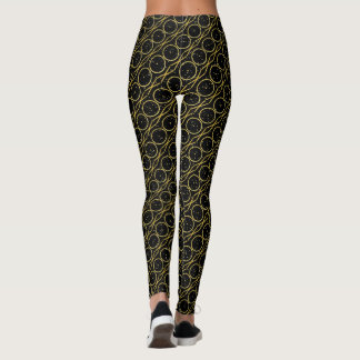 Gold Foil XO Hugs and Kisses + Glitter Flecks Leggings