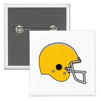 Gold Football Helmet Button