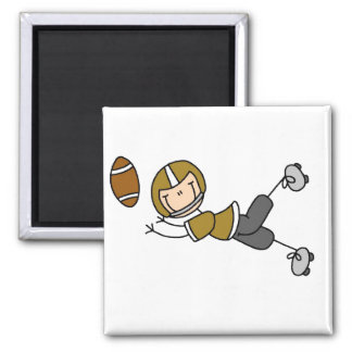 Gold Football Player Magnet