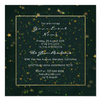 Gold Forest Woodland Starry Night Cali Green Card