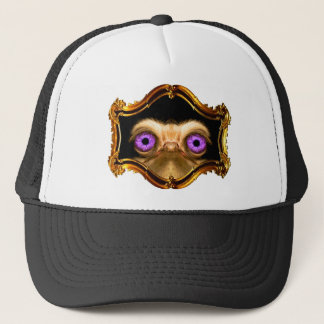 Gold Forward Ostrich Trucker Hat