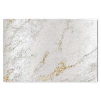 Gold Foxier Gray Silver Marble Metallic Abstract Tissue Paper
