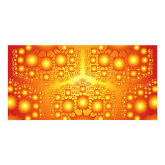 Gold Fractal Explosions: Personalized Photo Card