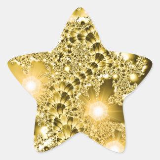 Gold Fractal Floral Vine Lights Sticker