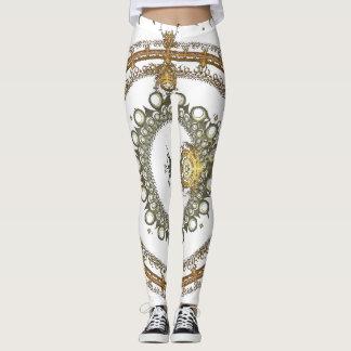 Gold Fractal Leggings