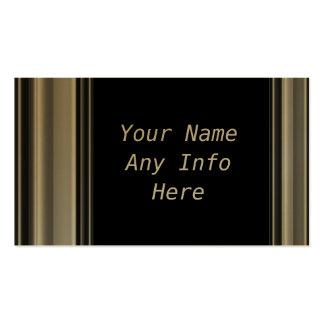 Gold Frame Border Business Cards