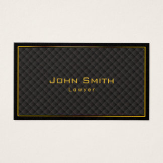 Gold Frame Diamond Grids Lawyer Business Card