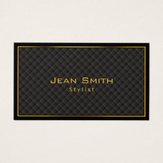 Gold Frame Diamond Grids Stylist Business Card