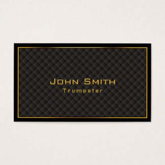 Gold Frame Diamond Grids Trumpeter Business Card