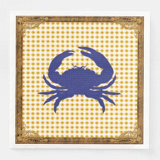 Gold-Framed-Crab-Gold-Navy-NAPKIN-MULTI-CHOICE'S Disposable Napkins