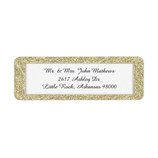 Gold Framed Custom Return Address Label 2