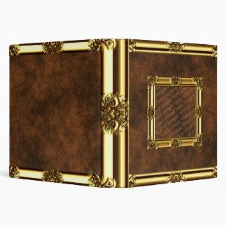 Gold Framed Leather Look Binder