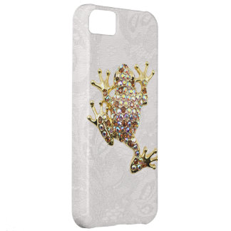 Gold Frog Jewel Photo Paisley Lace iPhone 5 Case