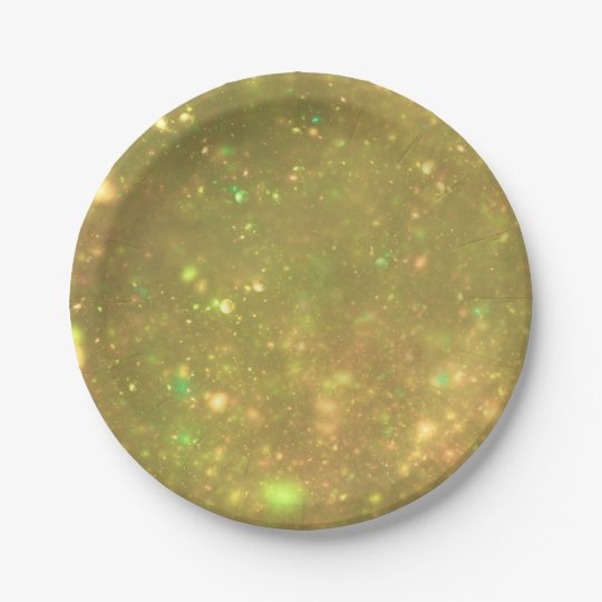 Gold Galactic Glitter 7 Inch Paper Plate
