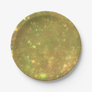 Gold Galactic Glitter Paper Plate