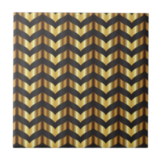 gold gatsby chevron tile