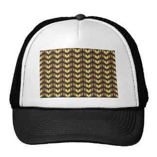 gold gatsby chevron trucker hat
