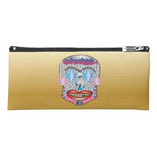 Gold Gemma Candy Skull Pencil Case