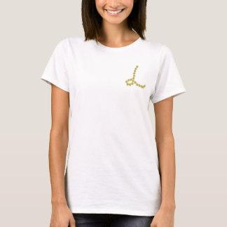 Gold gems letter L shirt
