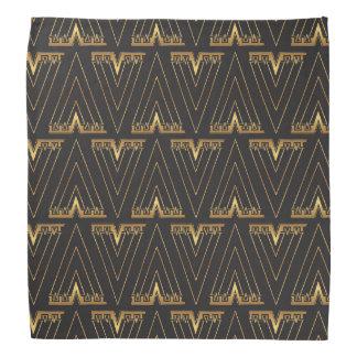 Gold Geometric Arrow Art Deco Elegant Chevron Head Kerchiefs