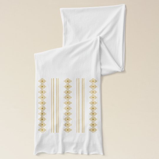 Gold geometric pattern on Jersey Scarf