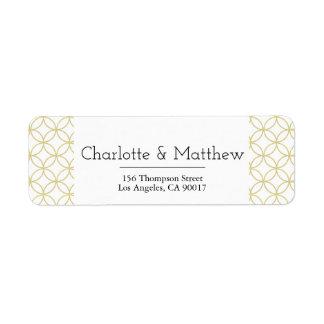 Gold Geometric 'Shippo' Wedding Address Label
