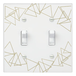 Gold Geometric Triangles Modern Glamour Chic Light Switch Cover