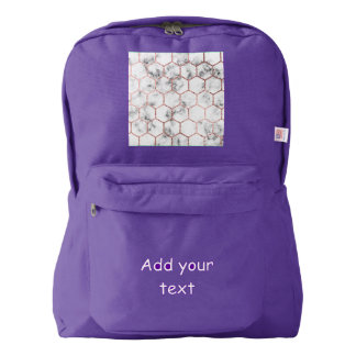 Gold,geometry,marble,pattern,modern,elegant,chic,e Backpack