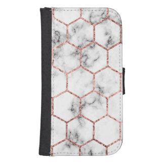 Gold,geometry,marble,pattern,modern,elegant,chic,e Samsung S4 Wallet Case