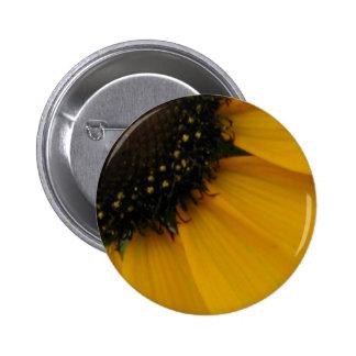 Gold Gerbera Daisy 053 2 Inch Round Button