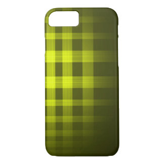 Gold Ghost Tartan Pattern iPhone 7 Case