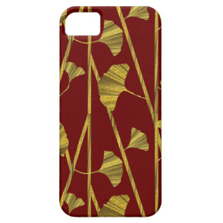 gold ginkgo iPhone 5 cases